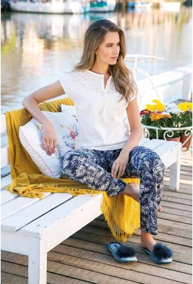 Yeni İnci BPJ1270 Kısa Kollu Viskon Kadın Pijama Takımı