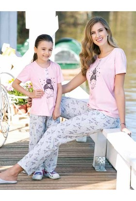 Yeni İnci CKP300 Kısa Kollu Süprem Kız Çocuk Pijama Takımı