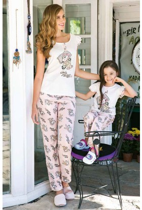Yeni İnci CKP304 Sıfır Kollu Süprem Kız Çocuk Pijama Takımı