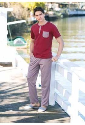 Yeni İnci EPJ656 Kısa Kollu Süprem Dokuma Üçlü Şortlu Erkek Pijama Takımı
