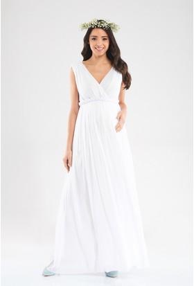 Lyn Devon Valentina Elbise Beyaz
