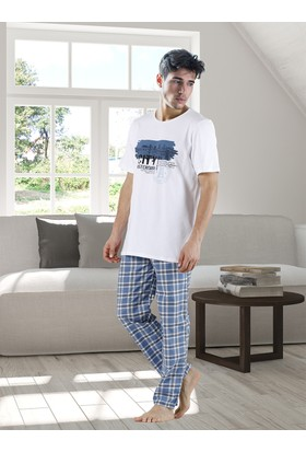 DoReMi Plain Plaid Erkek Pijama Takımı