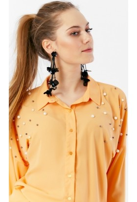 Eka İnci İşlemeli Gömlek