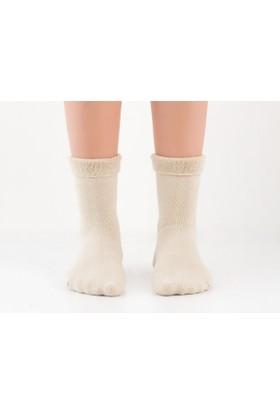 Madame Coco Kıvrık Havlu Kadın Çorabı - Bej