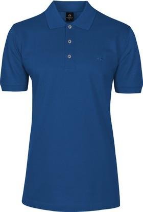 Çift Geyik Karaca Polo Yaka Düz Cepsiz T-Shirt