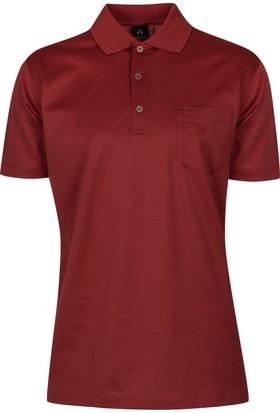 Çift Geyik Karaca Polo Yaka Düz Cepli T-Shirt