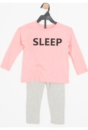 Soobe Kız Çocuk Pijama Takımı Pembe
