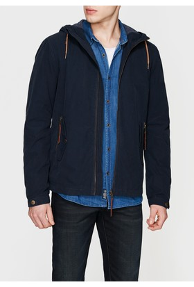 Mavi Erkek Kapüşonlu Lacivert Ceket
