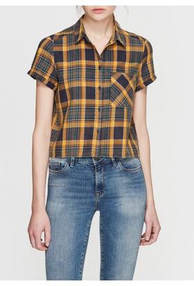 Mavi Sarı Kareli Gömlek