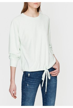 Mavi Bağcıklı Yeşil Sweatshirt