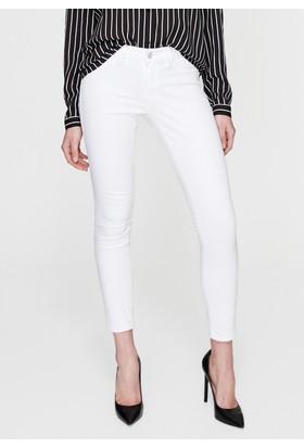 Mavi Adriana Ankle Beyaz Jean Pantolon
