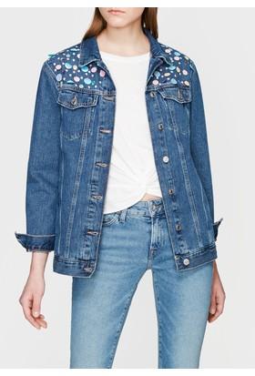 Mavi Jill Pullu Vintage Jean Ceket