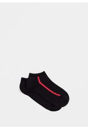 Mavi Siyah Patik Çorap