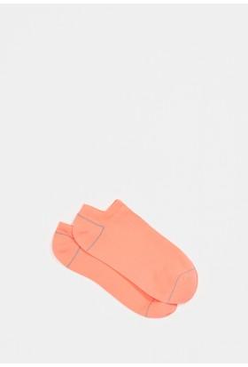 Mavi Turuncu Patik Çorap