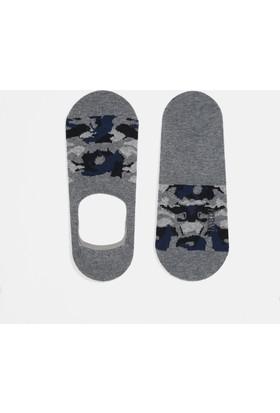 Mavi Gri Babet Çorap