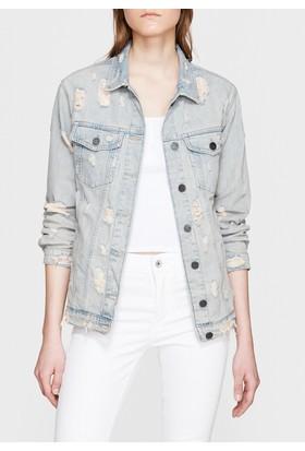 Mavi Karla Vintage Gold Jean Ceket