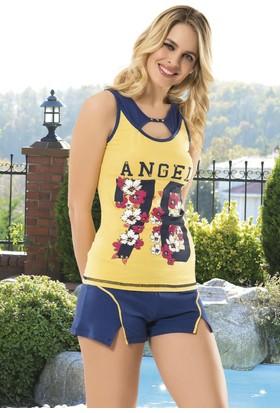 Angel's Story 53380 Askılı Şort Pijama Takımı