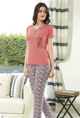 Angel's Story 53960 Kadın Kısa Kollu Pijama Takımı