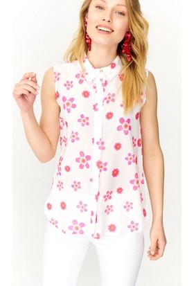 Lafaba Çiçek Desenli Kolsuz Gömlek