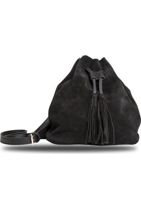 Getcho Deri Süet Mini Bucket Çanta