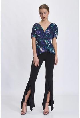 Bsl Siyah Kadın Pantolon 1018S003