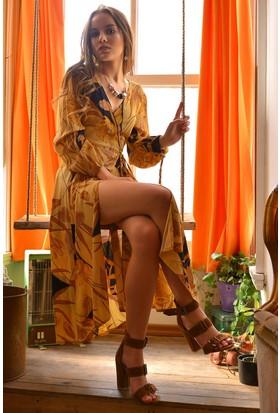 Bsl Desenli Kadın Elbise 518S004