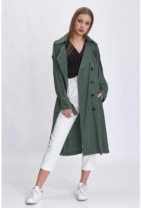 Bsl Yeşil Kadın Trençkot 6518S002