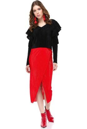 Bsl Kırmızı Kadın Etek 9823