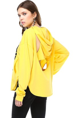 Bsl Sarı Kadın Sweatshirt 9889