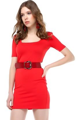 Bsl Kırmızı Kadın Elbise 9903