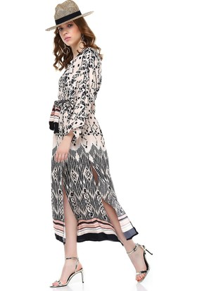Bsl Bej Kadın Kimono 9905