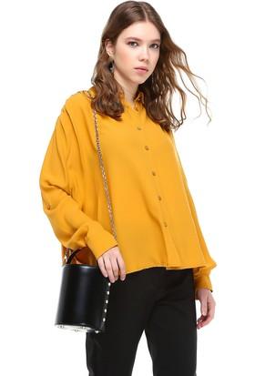 Bsl Sarı Kadın Gömlek 9906
