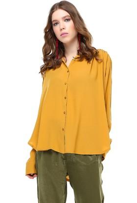 Bsl Hardal Kadın Gömlek 9906