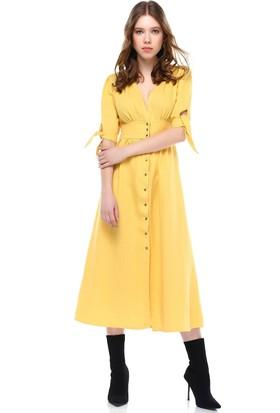 Bsl Sarı Kadın Elbise 9922