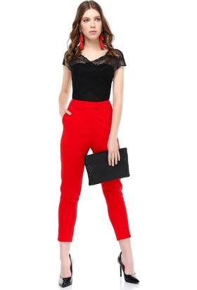 Bsl Kırmızı Kadın Pantolon 9924