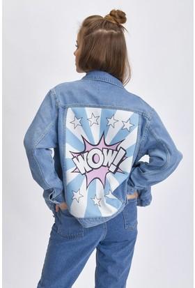 Bsl Mavi Jeans Kadın Ceket 9947