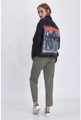 Bsl Siyah Jeans Kadın Ceket 9948