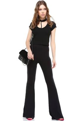 Bsl Siyah Kadın Pantolon 9955