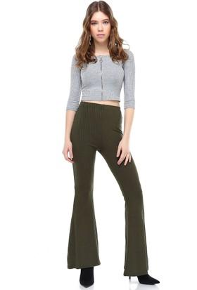 Bsl Haki Kadın Pantolon 9955