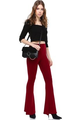 Bsl Bordo Kadın Pantolon 9955