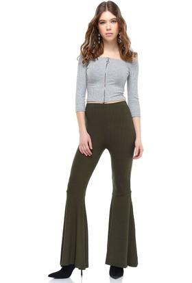 Bsl Haki Kadın Pantolon 9964