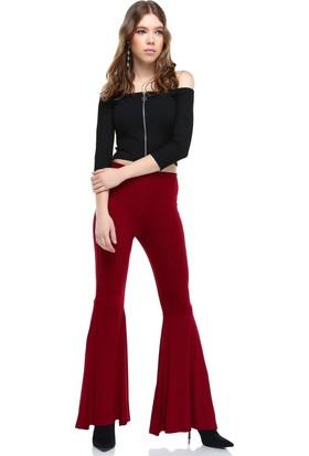 Bsl Bordo Kadın Pantolon 9964