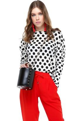 Bsl Puantiyeli Kadın Bluz 9968