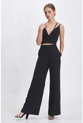 Bsl Siyah Kadın Pantolon 9970