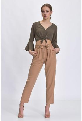 Bsl Bej Kadın Pantolon 9985