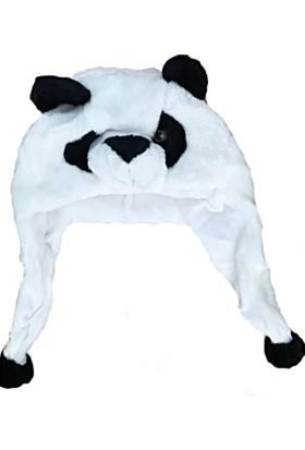 Ayd Peluş Renkli Kız Çocuk Şapkası - Panda
