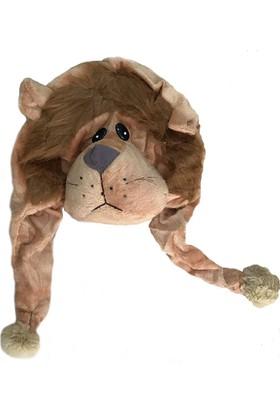 Ayd Peluş Renkli Kız Çocuk Şapkası - Aslan