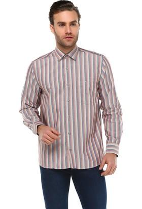 Varetta Klasik Kesim Uzun Kol Desenli Pamuklu Gömlek