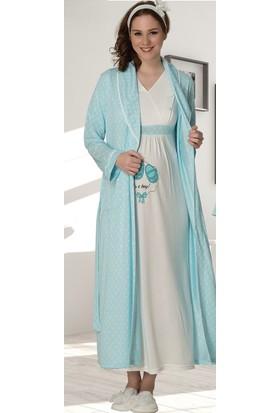 Şık Mecit 2010 Sabahlık Lohusa Pijama Gecelik Set
