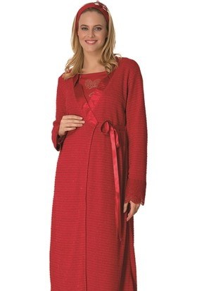 Şık Mecit 2015 Sabahlık Lohusa Pijama Gecelik Set